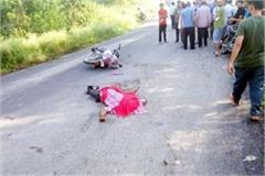 painful incident  collision between bike and bus death of one one injured
