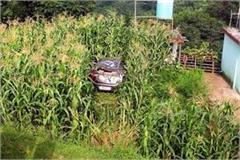 car fall into ditch 8 injured including 3 child