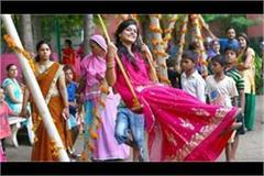 hariyali teej celebrated with delight in haryana raj bhawan