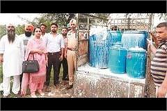 health department and police team destroyed fake milk paneer and curd