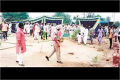 muslim and dalit brotherhood throwed stone each other