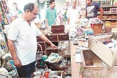 thieves made target two million rupees items from shop