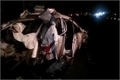 muzaffarnagar 4 people died in massive road accident