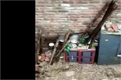 rainfall of rain in ambala two children buried in roof mud