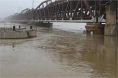 ganga and yamuna water level decreased in allahabad