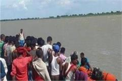 amethi three submerged by boat in river gomti