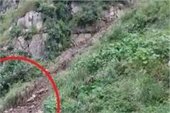 circular road closed due to landslide due to naina devi