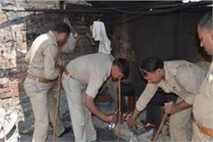 police raid on illegal liquor factory one arrested including raw liquor