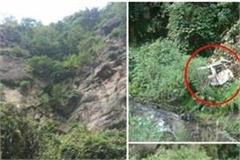 bolero camper fell into deep ditch