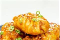 chicken chilli garlic momos