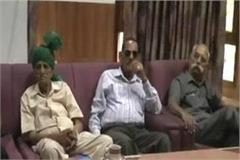 the meeting about the issue of ex servicemen in hamirpur