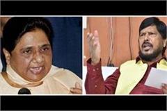 ramdas athawale s mayawati nitin gadkari bjp quit alliance