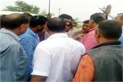 fight between bjp and congress workers in nalagarh