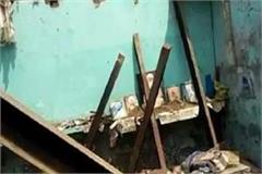 rains on the sleeping family killed one killed due to roof fall