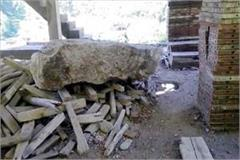 rocks fall on houses in rohnat people survived like this