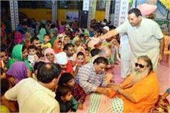 baba bal ji s ashram changed into vrindavan town on janmashtami