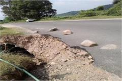 crater lying on jasur indora road can be a major accident