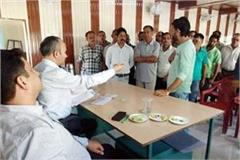 adc kangra listen the problems of peoples in indora and gangath