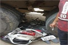 ruck driver crushes 18 vehicles injures one person