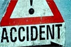 painful incident  death of bike rider from collision of truck one injured