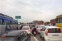four kilometer long jammed on jalandhar ludhiana highway