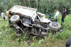 jeep fall into ditch death of 3 12 injured