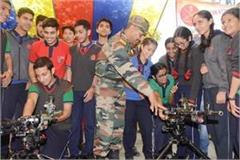 surgical strike day  army solider s arms exhibition on ridge ground