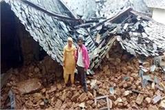 2 house collapsed in nadaun child survived like this