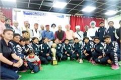 haryana and himachal joint winner in woman handball competition