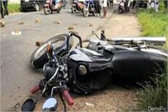 collision between car and bike youth injured