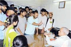 abvp siege the vice chancellor of the cu on not complete the demands