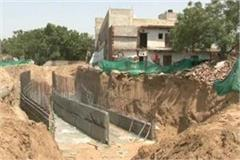 gmda plans for water flow at hero honda chowk