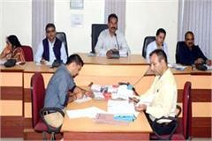 issues of education roads water dengue in meeting of district council