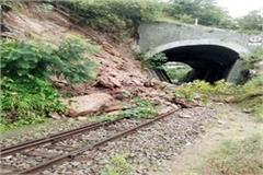 solan railway track wheels stopped passenger upset
