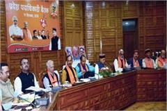 matter of appointments of chairman vice chairman in meeting of bjp