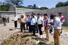 quality control team reached hamirpur inspected under construction works