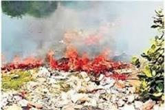 incidences of fire in garbage are not stopping becoming reason