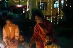 bjp national executive president nadda celebrated the village diwali