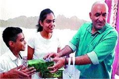 haryana s daughter nandani awareness reached home d c awarded