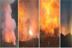 police burnt 10 lakh illegal firecrackers together