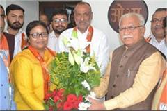 general secretary of women s congress anjali bansal joins bjp
