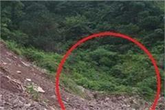 heavy landslide on nahan shimla nh