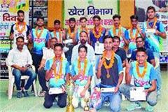 haryana team dominated in senior national floor competition
