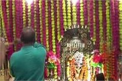 huge crowd of devotees gathered at guru grameshwari devi temple