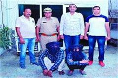 two accused arrested for the theft of lakhs