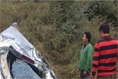tragic accident car falls into deep ditch