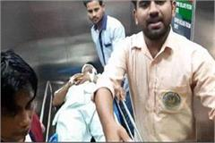 congress party workers attacked the bharatiya janata party worker