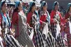 women put together a message in the kullu dussehra festival