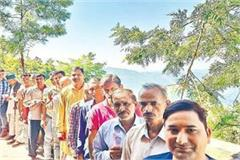 voters decide 10 km journey to cast their vote at the highest booth