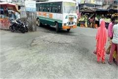 bad condition of bus stand and parkings